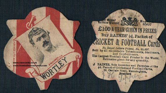 1880s Wortley Swainston rugby card
